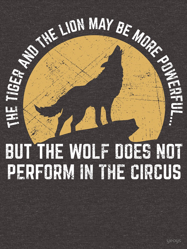 Powerful Wolf Does Not Perform In Circus by yeoys