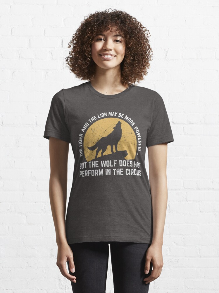 Alternate view of Powerful Wolf Does Not Perform In Circus Essential T-Shirt