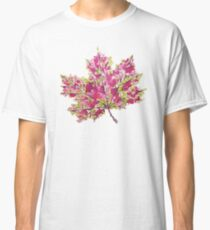 Colorful Watercolor Autumn Leaf Classic T-Shirt