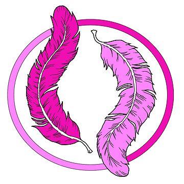 """""""Flamingo feathers"""" by Maryluart"""
