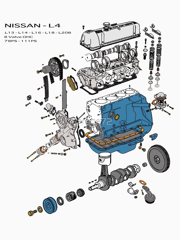 Nissan L4 Exploded View by Garage72