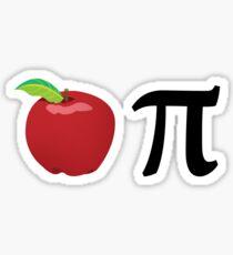 Funny Pun Apple Pi Sticker