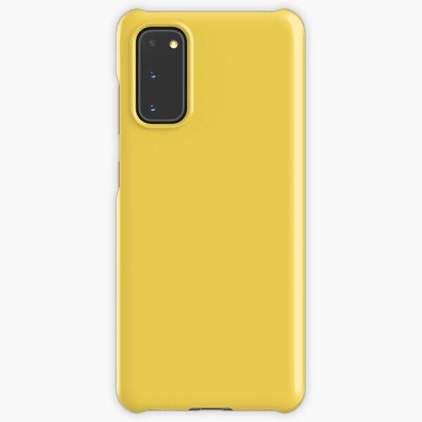 Mustard Yellow Solid Color Samsung Galaxy Snap Case
