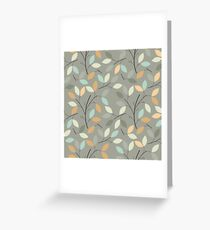 Seamless pattern with decorative leaves Greeting Card