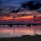 Sunset on Fisherman's Lagoon by Kasia-D