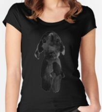 black dog Women's Fitted Scoop T-Shirt