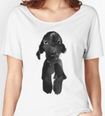 black dog Women's Relaxed Fit T-Shirt