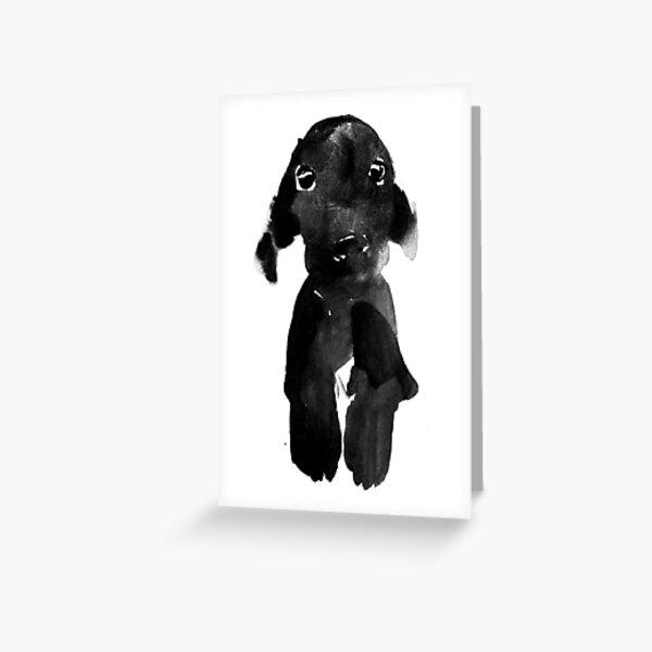 black dog Carte de vœux