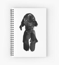 black dog Spiral Notebook