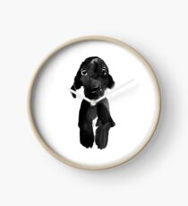 black dog Clock