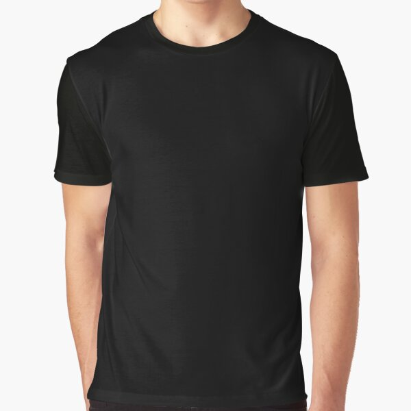 Ultimate Black Solid Color Graphic T-Shirt