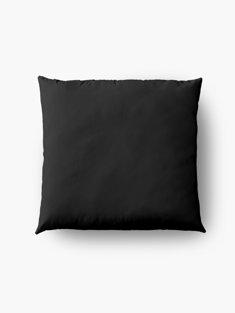 Alternate view of Ultimate Black Solid Color Floor Pillow