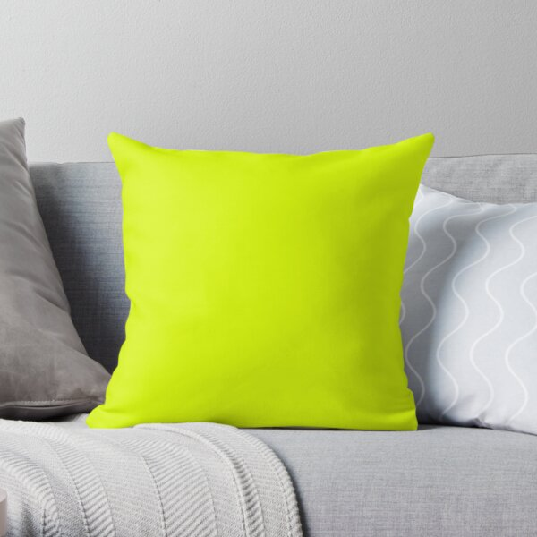Chartreuse Yellow Solid Color Throw Pillow