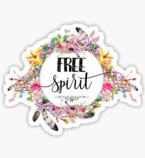 Free Spirit - Boho Style - Girly Hippie Designs Sticker