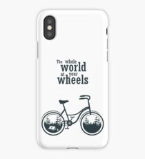 Bicycle slogan print iPhone Case/Skin