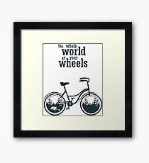 Bicycle slogan print Framed Print