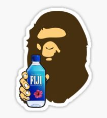 FIJI WATER BAPE APE Sticker