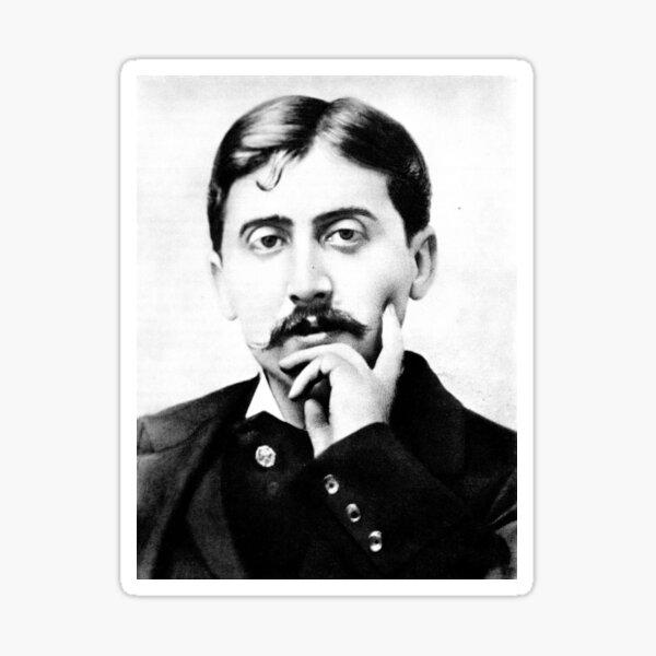 Marcel Proust - black and white Sticker