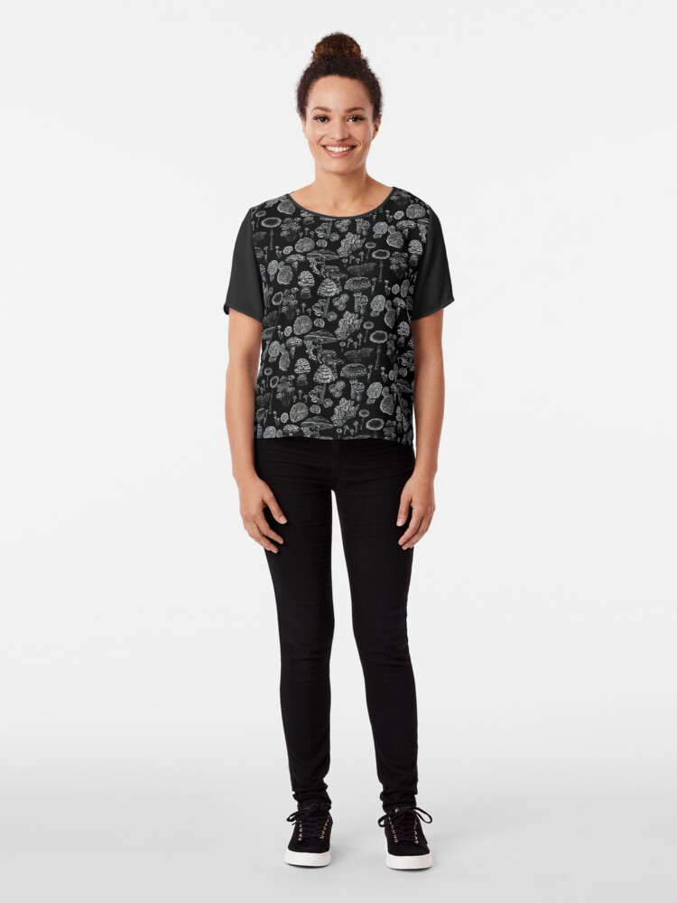 Alternate view of Mycology in Black Chiffon Top