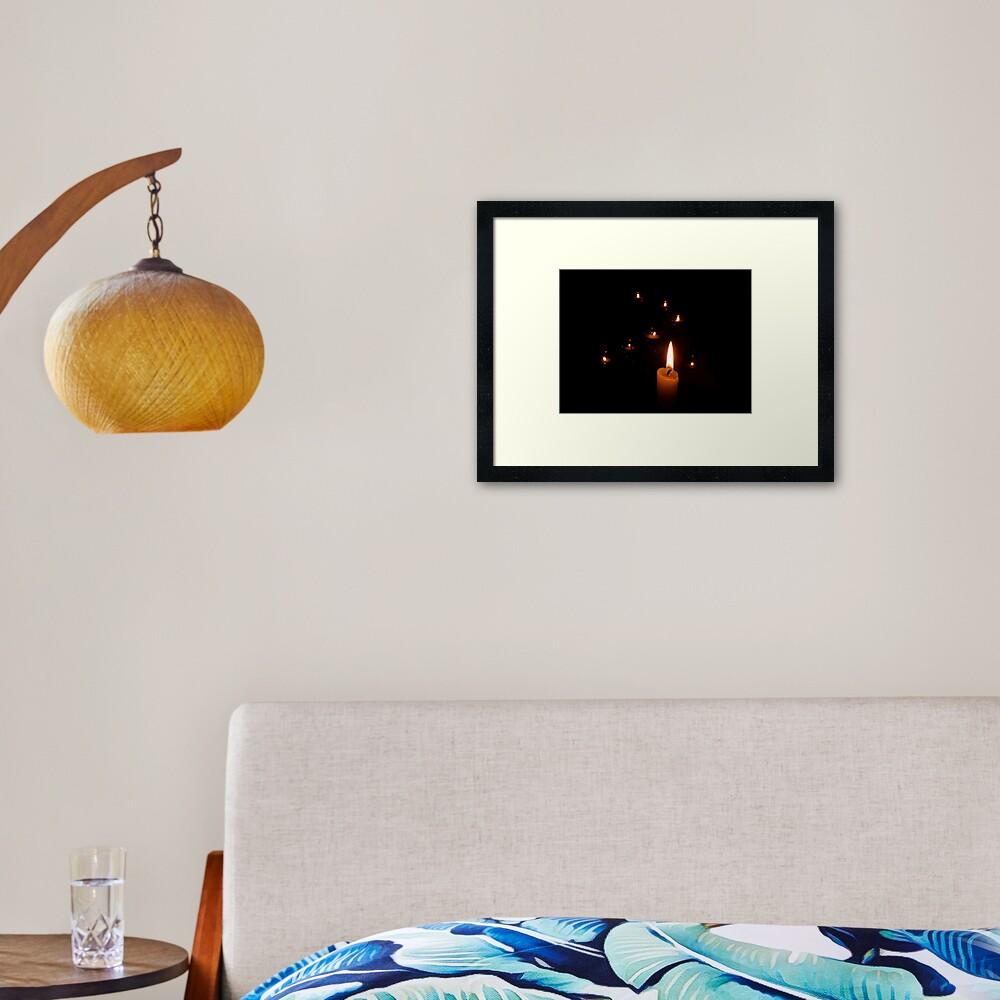Candlelight Framed Art Print