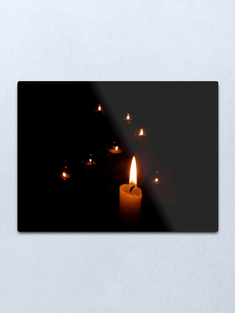 Alternate view of Candlelight Metal Print