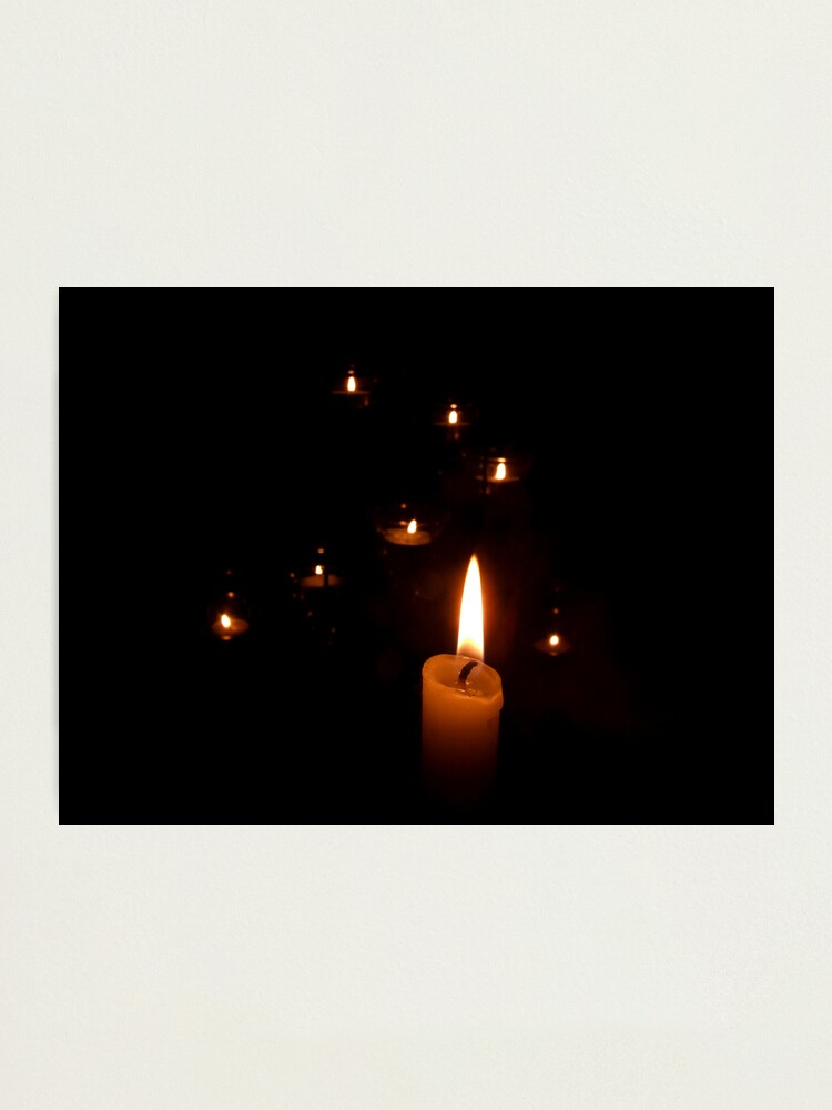 Alternate view of Candlelight Photographic Print