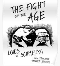 Joe Louis vs Max Schmeling Boxing Fight Poster