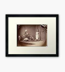 Photograph by Lewis Carroll, St. George and the Dragon, 1875 Framed Print