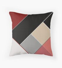Brown grey abstract pattern . Patchwork Throw Pillow