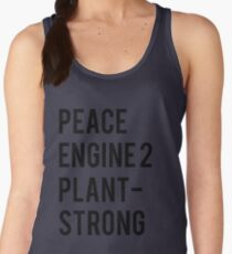 Peace, Engine 2, Plant-Strong Women's Tank Top