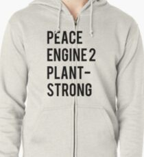 Peace, Engine 2, Plant-Strong Zipped Hoodie