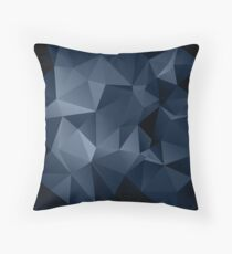 Black and blue polygonal pattern . Throw Pillow