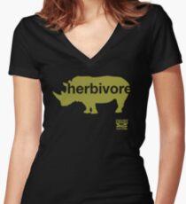 Herbivore Green Women's Fitted V-Neck T-Shirt