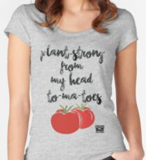 Plant-Strong From My Head To-Ma-Toes Women's Fitted Scoop T-Shirt