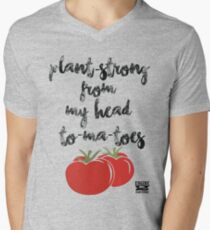 Plant-Strong From My Head To-Ma-Toes Men's V-Neck T-Shirt