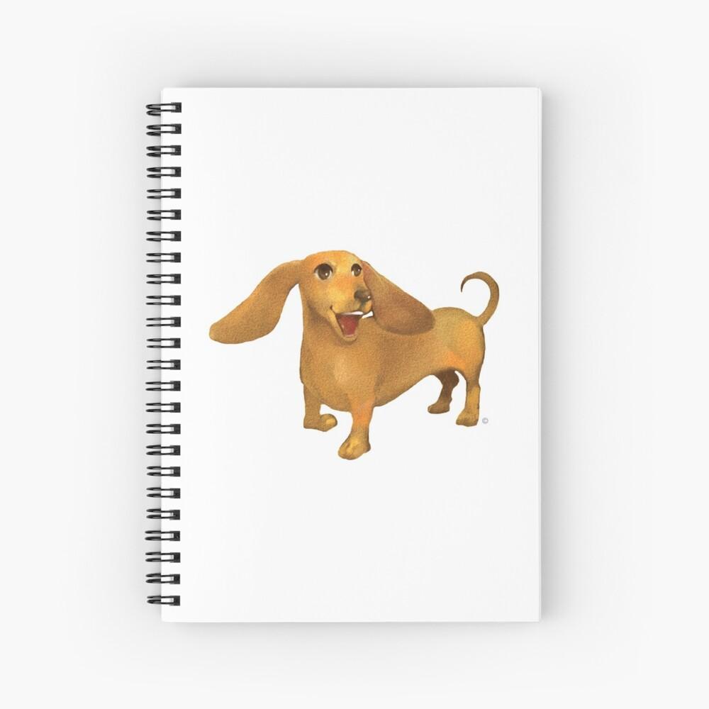Jasper The Sled Dog Dachshund Spiral Notebook