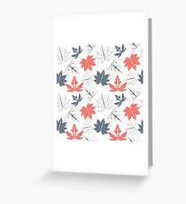 Seamless pattern with autumn leaves isolated on white background Greeting Card