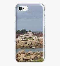 Pink granite coast in Brittany iPhone Case/Skin