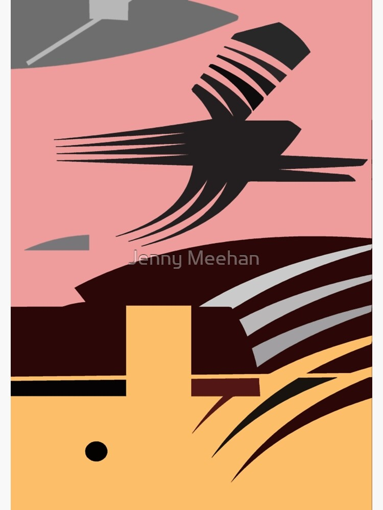 Rush Hour - Calm in the Cityscape Design by Jenny Meehan by jennyjimjams