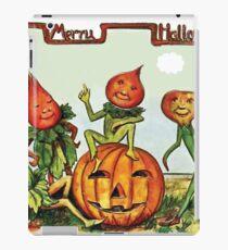 Live vegetables celebrating Halloween on a farm iPad Case/Skin