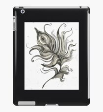 Black Ink Peacock Feather iPad Case/Skin