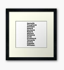 &13 Framed Print