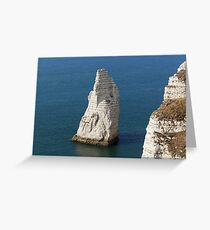 The coast at the Aval cliffs of Etretat Greeting Card