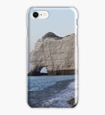 The coast at the Aval cliffs of Etretat in the Normandy in France iPhone Case/Skin