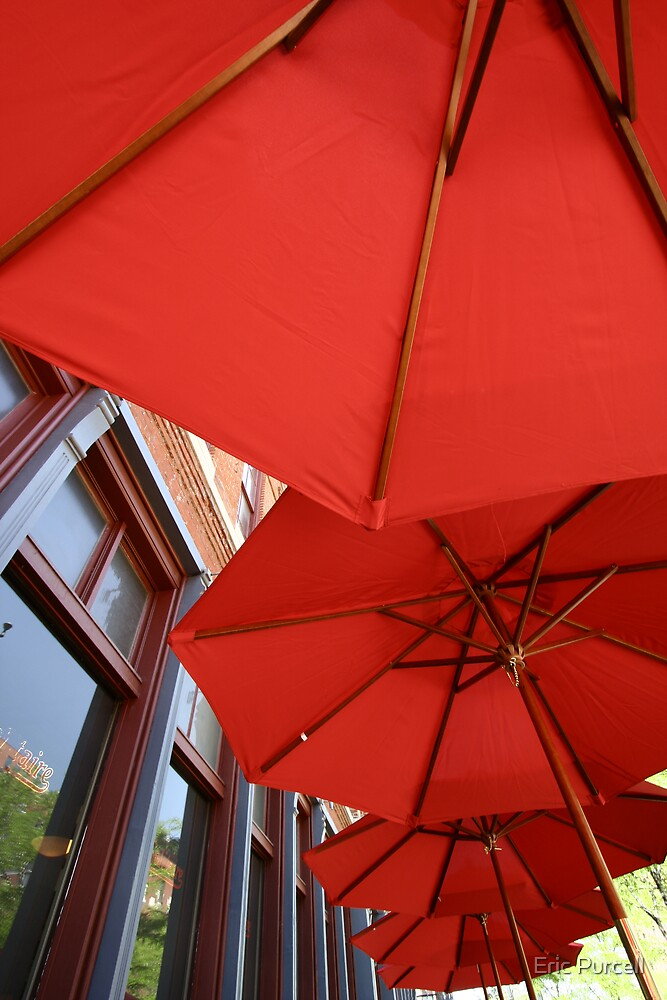 Red Umbrellas by Eric Purcell