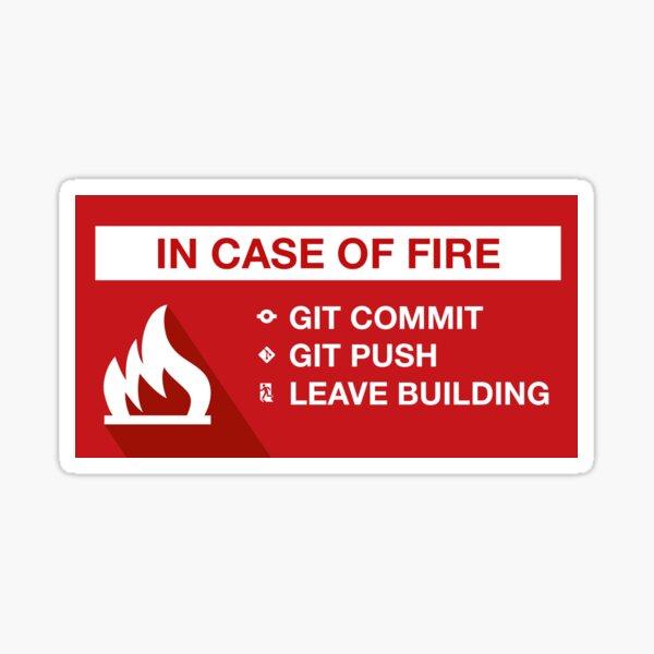 En caso de incendio Pegatina