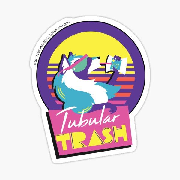 Tubular Trashpanda Sticker