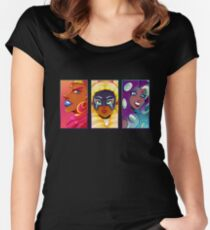 The Three Divas - Glammer Shots Women's Fitted Scoop T-Shirt