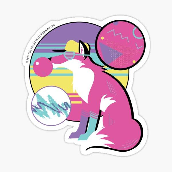 Rad Fox Sticker