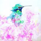 Hummingbird Flutter Color by Kellie Raines